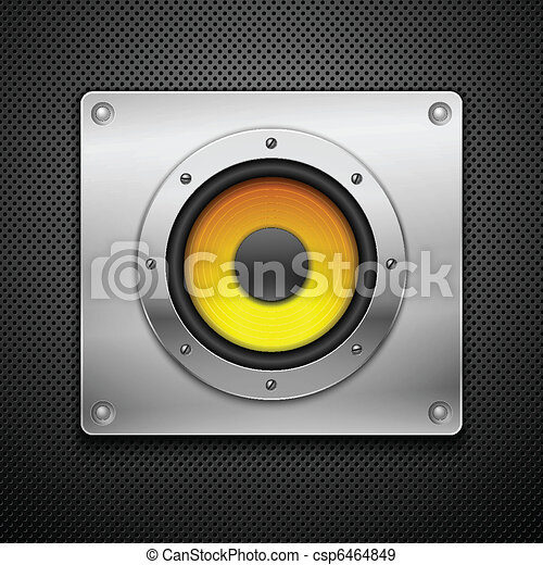 Speaker on a metallic background. - csp6464849