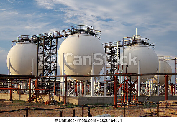 Gas Processing Plant. - csp6464871