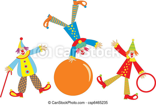 Cheerful clowns  - csp6465235