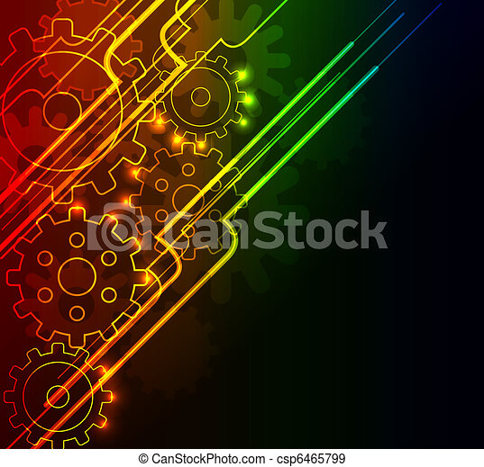 Abstract glowing background - csp6465799