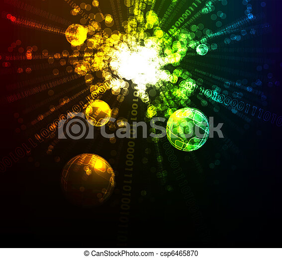 Abstract glowing background - csp6465870