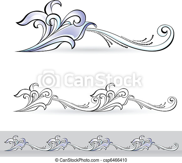 Abstract flora design element. - csp6466410