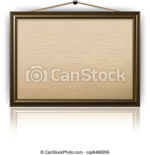 Empty notice board - csp6466956