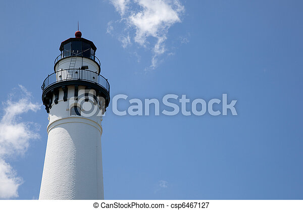 Lighthouse with a sky background and copy space - csp6467127