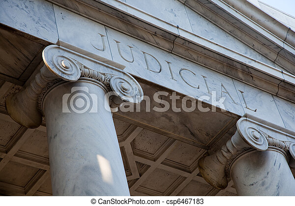 Judicial Courthouse pillars - csp6467183