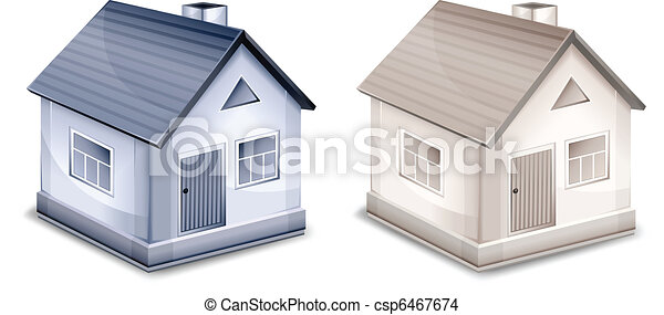 Two small village houses - csp6467674