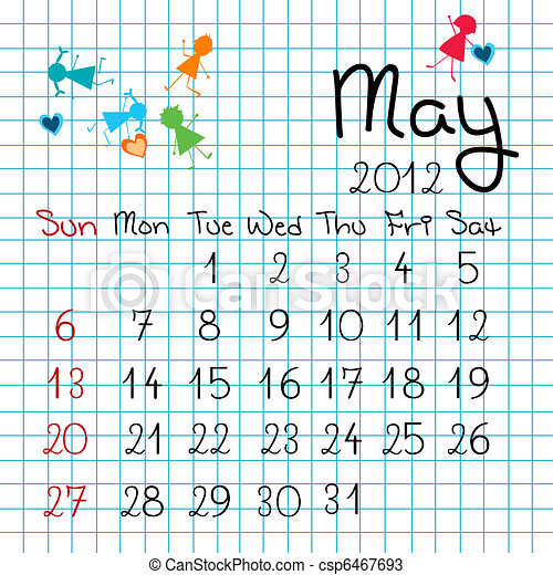 Calendar for May 2012 - csp6467693