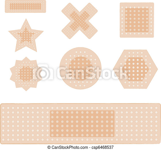 set of plasters isolated on white - csp6468537