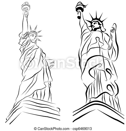 Statue of Liberty Drawings - csp6469013