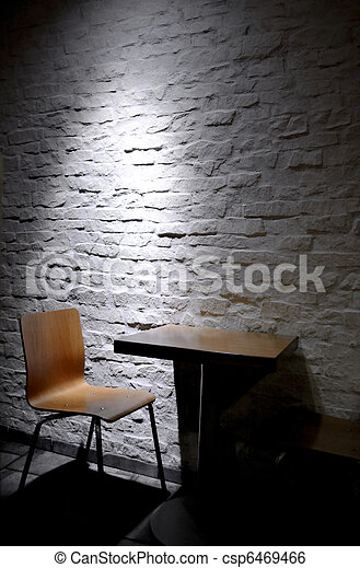 Single chair in minimalist interior - csp6469466