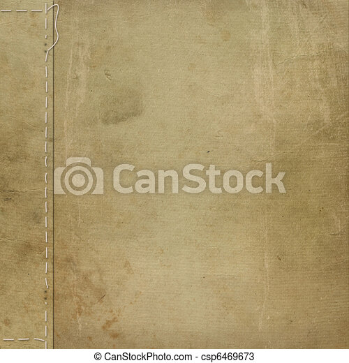 Brown grunge cover for an album with photos - csp6469673