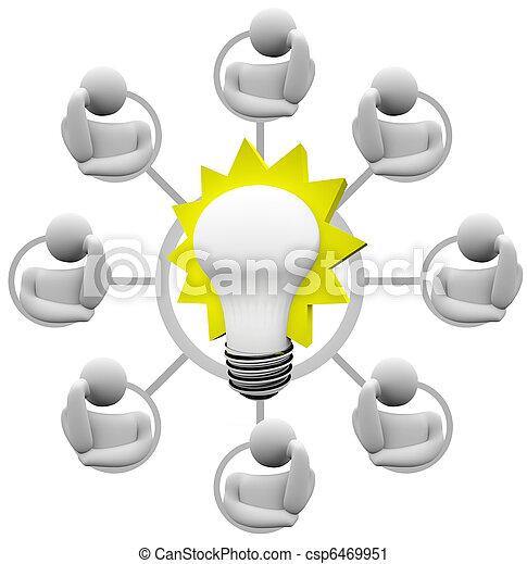 Brainstorming Solution to Problem Envision Light Bulb Idea - csp6469951