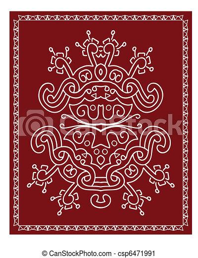 Folk, Tribal Designs, Motif, Wall P - csp6471991