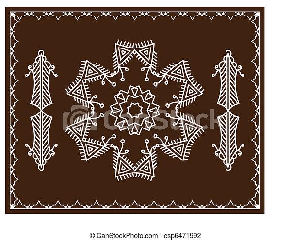 Folk, Tribal Designs, Motif, Wall P - csp6471992