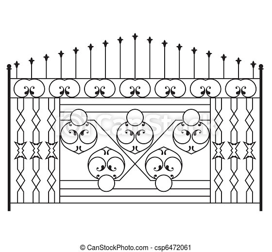 Wrought Iron Gate, Door, Fence, Win - csp6472061