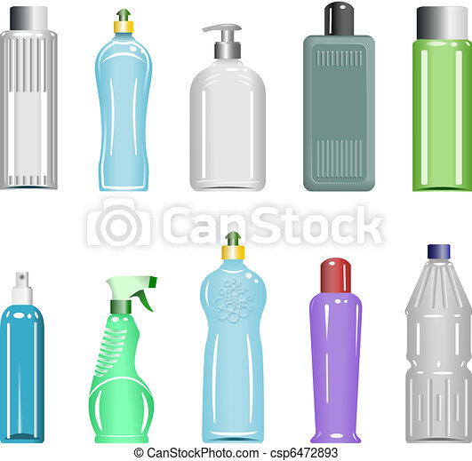 Plastic Bottles Set 5 - csp6472893