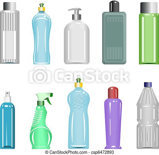 Plastic Bottles Set 5 - csp6472893