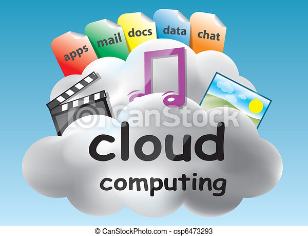 Cloud computing concept - csp6473293