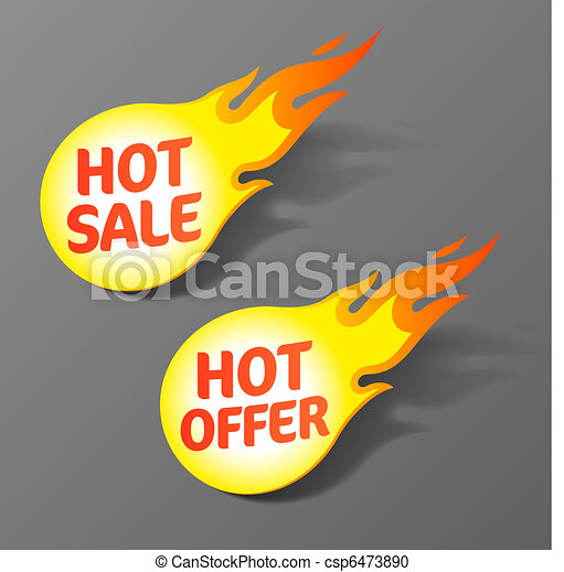 Hot sale and hot offer tags - csp6473890