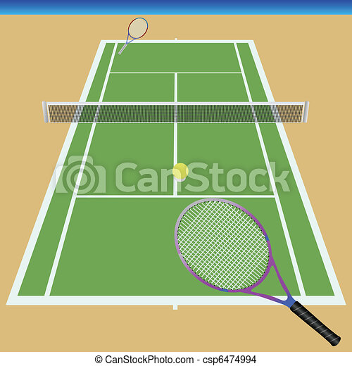 Lawn Tennis Drawing Tennis Court Drawing