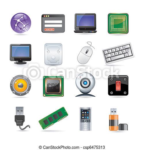 technology icon set - csp6475313