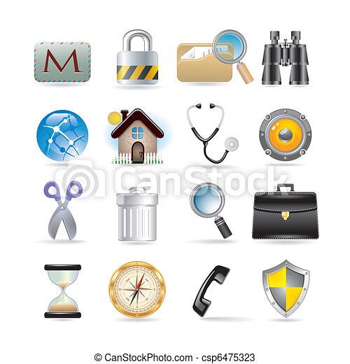 web icons set - csp6475323