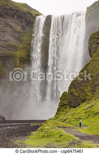 Big beauty waterfall - Skogafoss - Iceland - csp6475461
