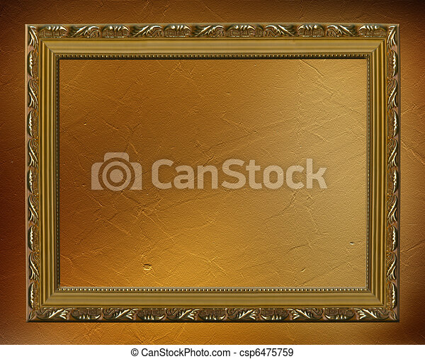Abstract crushed ancient background in scrapbooking style with wooden frame - csp6475759