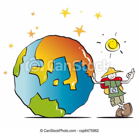 Funny traveler sightseeing - csp6475962