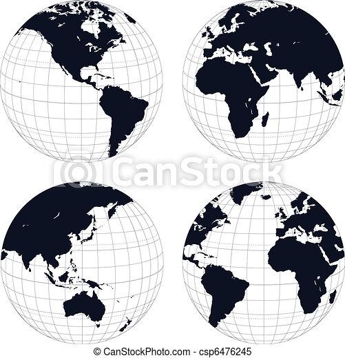 Earth globes - csp6476245