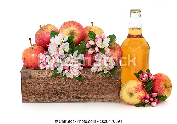 Cider Apples with Blossom - csp6476591
