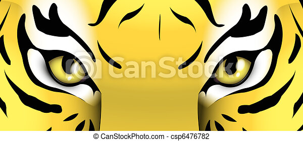 eyes of a tiger - csp6476782