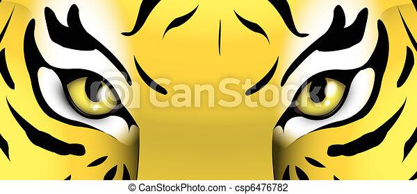eyes of a tiger - csp6476782