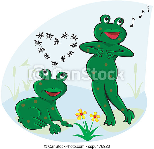 Funny and carefree frogs - csp6476920