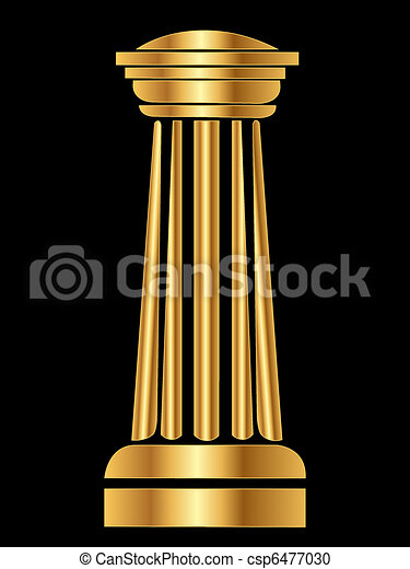 Gold Column - csp6477030