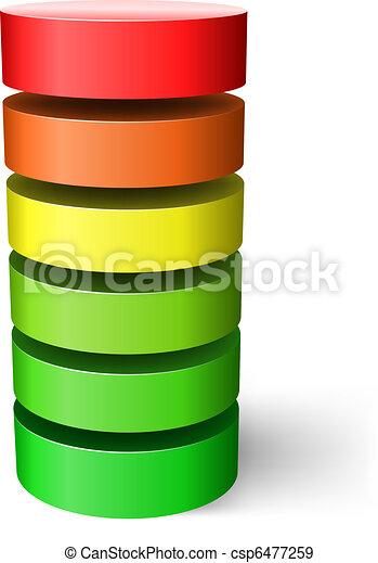 Layered cylinder. - csp6477259