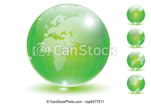 Earth globe set vector. - csp6477511