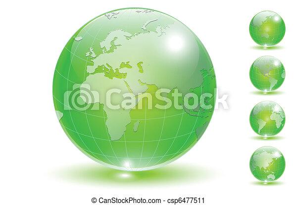 Earth globe set vector. - csp6477511