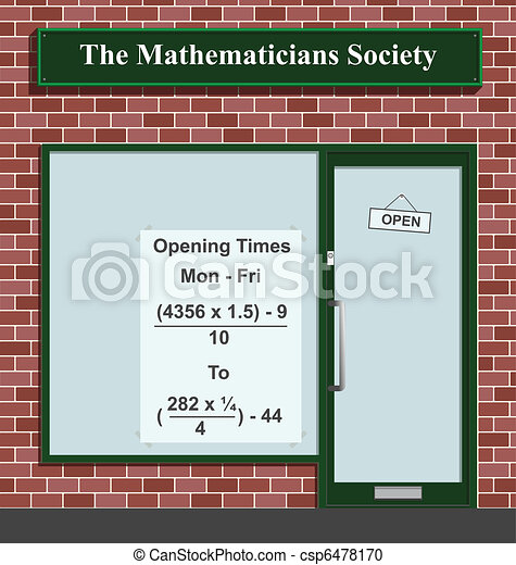 Mathematicians Society  - csp6478170