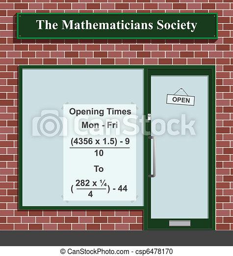 Mathematicians Society  - csp6478170