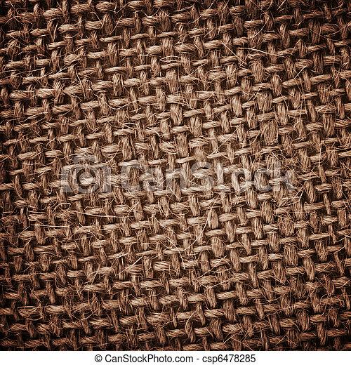 Burlap rough texture - csp6478285