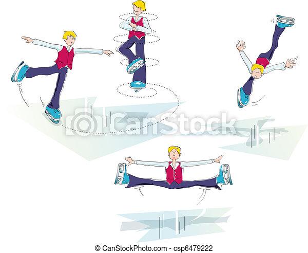ice skating man - csp6479222