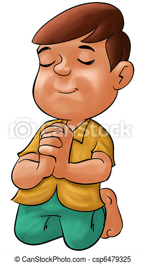 Boy praying - csp6479325