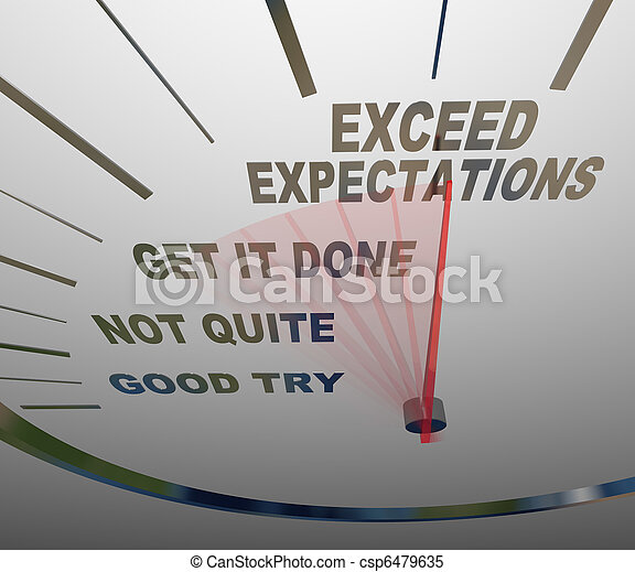 Speedometer - Exceeding Expectations of Your Customers - csp6479635