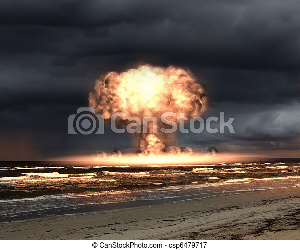 Nuclear explosion in an outdoor setting - csp6479717