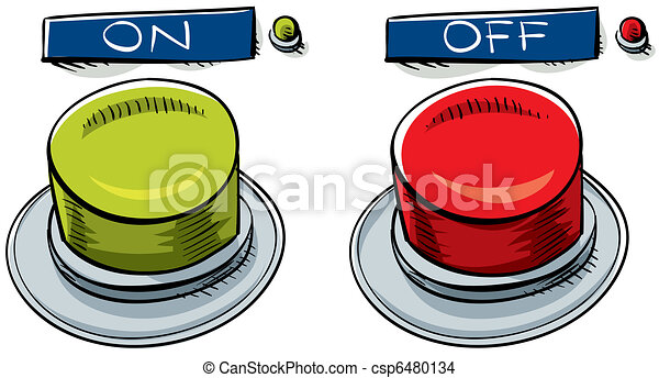 On and Off Buttons - csp6480134