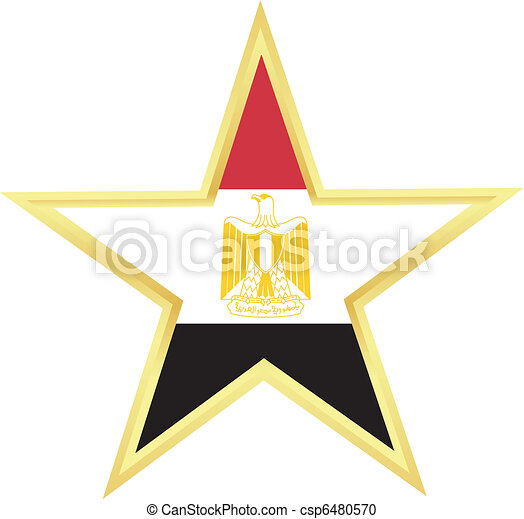 vektor clipart von fahne gypten gold stern fahne gypten csp6480570 suchen sie clip art. Black Bedroom Furniture Sets. Home Design Ideas