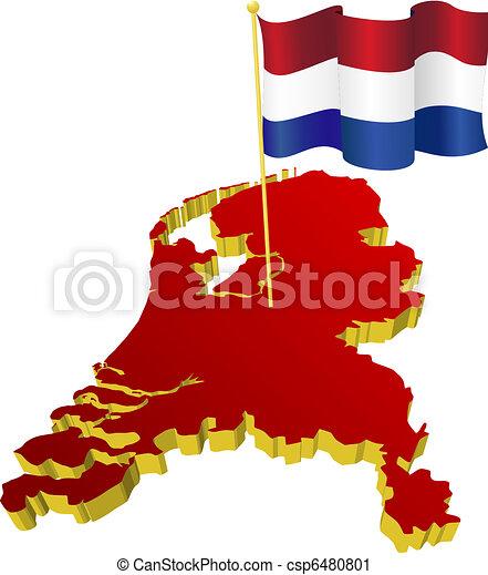 map of Netherlands  - csp6480801