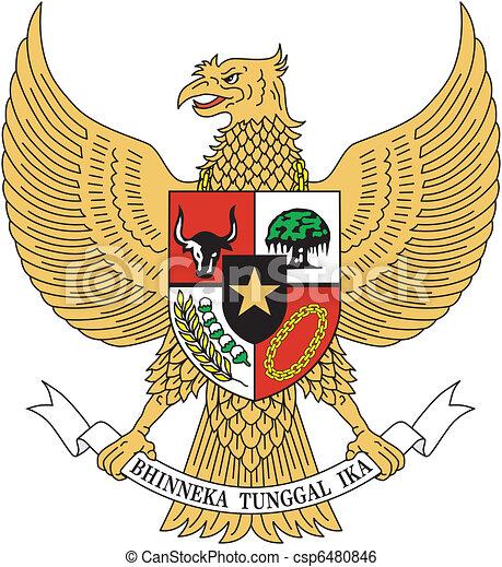 vector emblem Indonesia - csp6480846