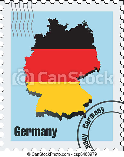 vector stamp of Germany - csp6480979